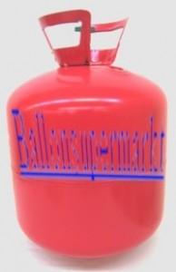 Ballongas in der Einweg-Ballongas-Flasche