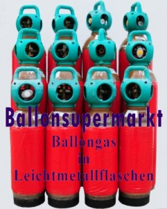 Ballongas in Leichtmetallflaschen