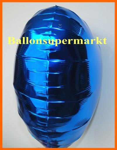So sieht ein Folien-Luftballon mit Helium aus, wenn er richtig aufgeblasen ist