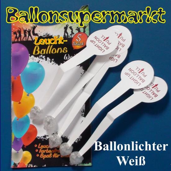Ballonlichter, Ballonbeleuchter, LED-Lichter für Luftballons, konstant weiss leuchtend