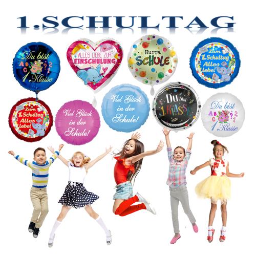 1. Schultag Luftballons. Geschenke für Schulkinder.